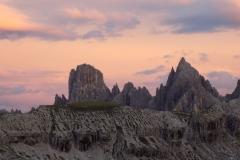 Zalazak sunca Dolomiti