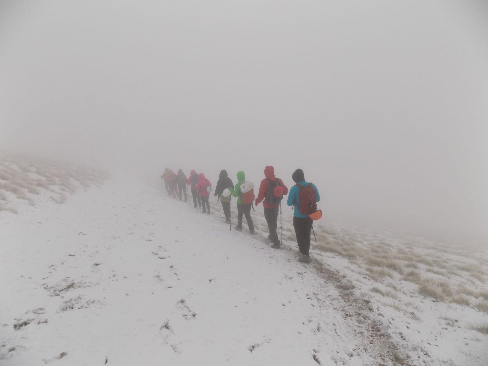 Olimp i planinari u magli